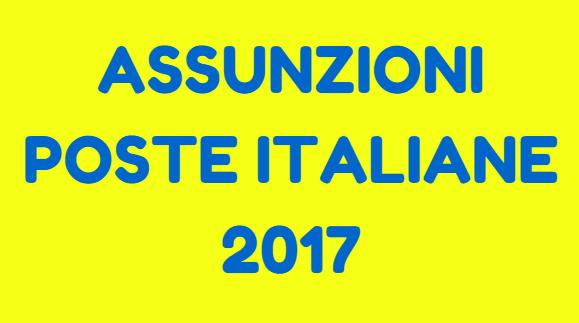 assunzioni poste italiane 2017